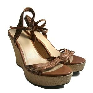 Womens J. CREW Made In Italy Wedge Sandal Sz 9